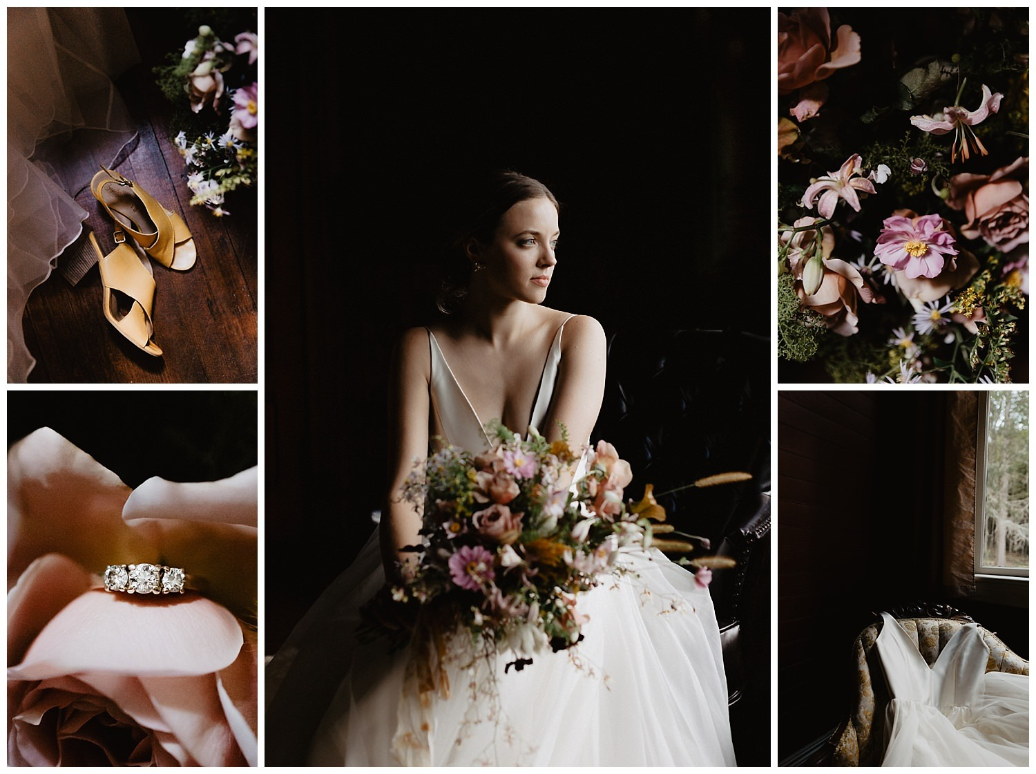 moody romantic wedding